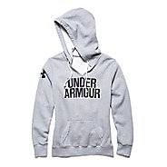 Womens Under Armour Favorite Fleece Wordmark Hoodie & Sweatshirts Technical Tops