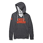 Womens Under Armour Favorite Fleece Wordmark Hoodie & Sweatshirts Technical Tops - Carbon/Dark ...