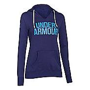 Womens Under Armour Favorite Fleece Wordmark Hoodie & Sweatshirts Technical Tops