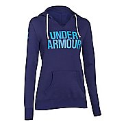 Womens Under Armour Favorite Fleece Wordmark Hoodie & Sweatshirts Technical Tops - Europa ...