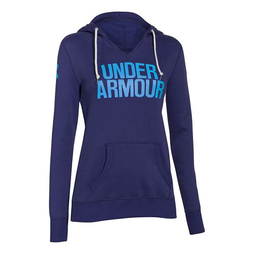 Womens Under Armour Favorite Fleece Wordmark Hoodie & Sweatshirts Technical Tops - Europa ...