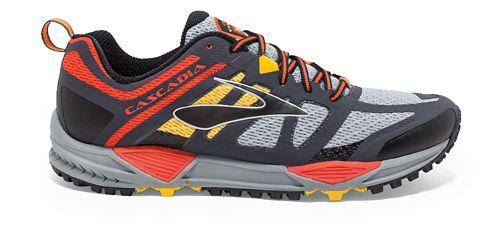 Mens Brooks Cascadia 11 Trail Running Shoe - Grey 12.5