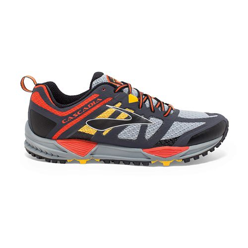 Mens Brooks Cascadia 11 Trail Running Shoe - Grey 9