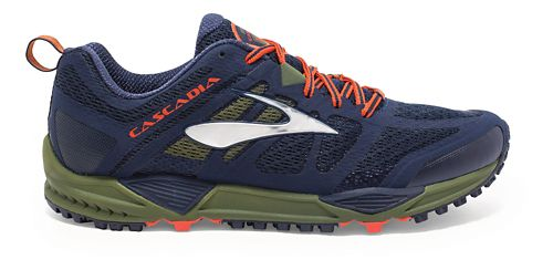 Mens Brooks Cascadia 11 Trail Running Shoe - Navy 8