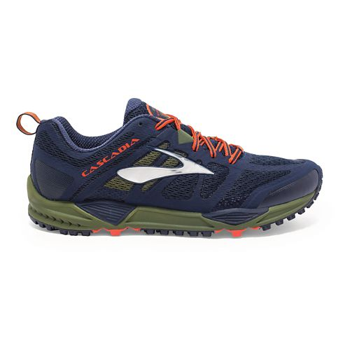 Mens Brooks Cascadia 11 Trail Running Shoe - Navy 11.5