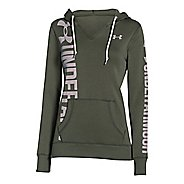 Womens Under Armour Favorite Fleece Long Sleeve Hooded Technical Tops