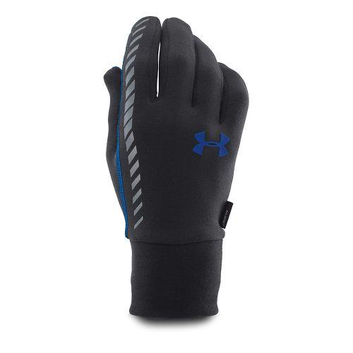 Mens Under Armour Charged Wool Run Glove Handwear - Black/Blue Jet M