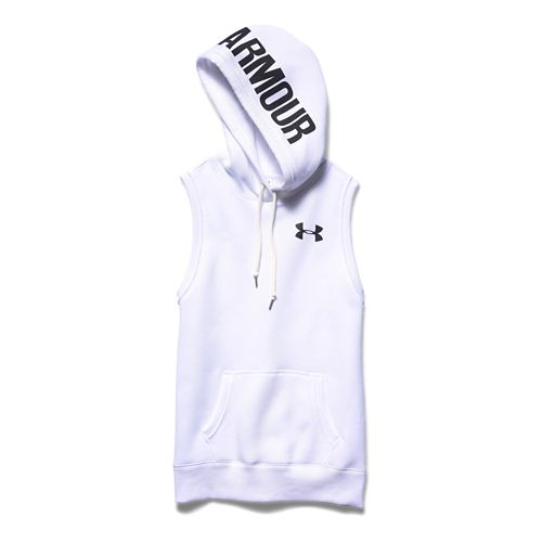 Womens Under Armour Favorite Fleece Hoody Vest Sleeveless & Tank Tops Technical Tops - ...