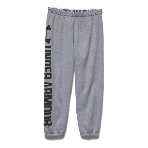 Womens Under Armour Favorite Fleece Capris Pants - True Grey Heather S