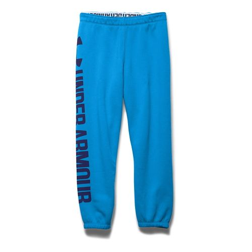Womens Under Armour Favorite Fleece Capri Pants - Jazz Blue/Purple M