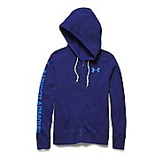 Womens Under Armour Favorite Fleece Full-Zip Warm Up Hooded Jackets - Europa Purple/Blue M