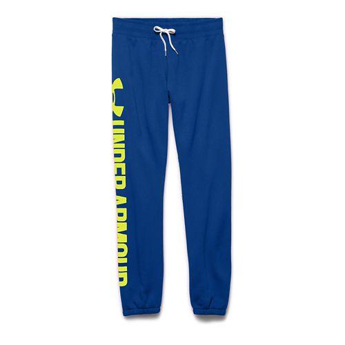 Womens Under Armour Favorite Fleece Boyfriend Pants - Blue Knight XS