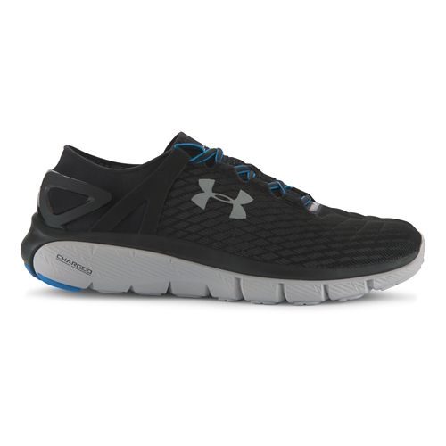 Mens Under Armour Speedform Fortis Night Running Shoe - Black/Aluminum 9