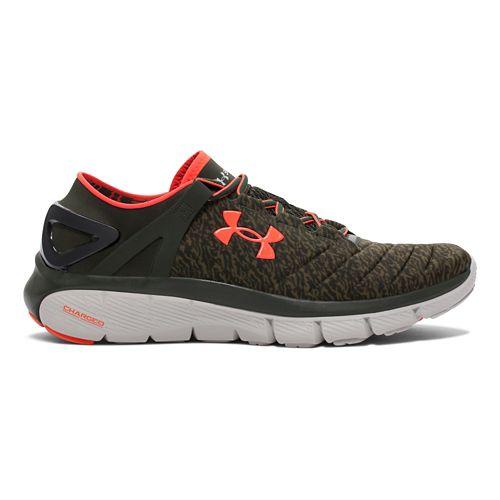 Mens Under Armour Speedform Fortis GR Running Shoe - Green/Orange 10.5
