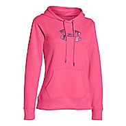 Womens Under Armour Storm Armour Fleece Printed Big Logo Long Sleeve Hooded Technical Tops