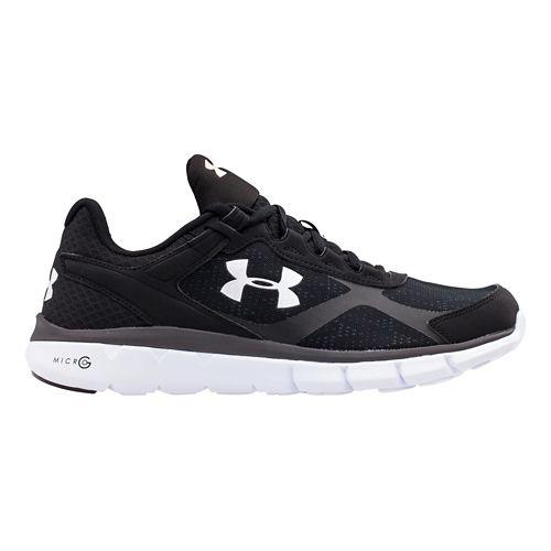 Mens Under Armour Micro G Velocity RN Running Shoe - Black/White 10