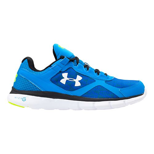 Mens Under Armour Micro G Velocity RN Running Shoe - Blue Jet/White 15