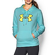 Womens Under Armour Storm Armour Fleece Printed Big Logo Twist Long Sleeve Hooded Technical Tops