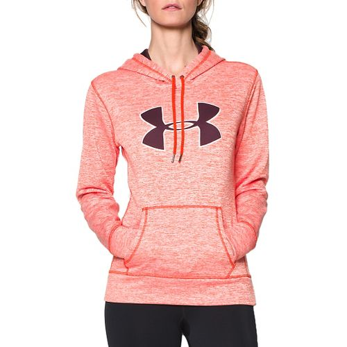 Womens Under Armour Storm Armour Fleece Printed Big Logo Twist Long Sleeve Hooded Technical ...