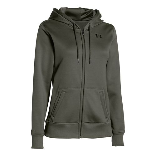 Womens Under Armour Storm Armour Fleece Full-Zip Warm Up Hooded Jackets - Downtown Green XS ...