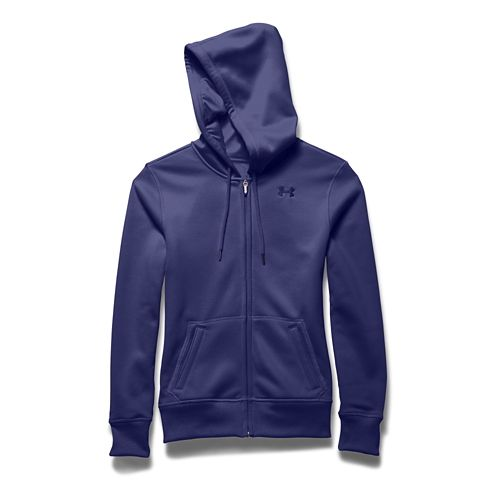 Womens Under Armour Storm Armour Fleece Full-Zip Warm Up Hooded Jackets - Europa Purple XS ...