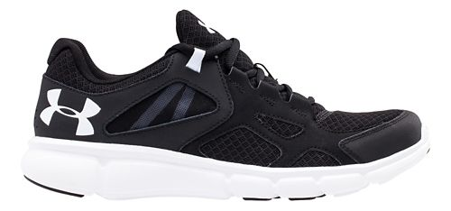Mens Under Armour Thrill Running Shoe - Black/White 11