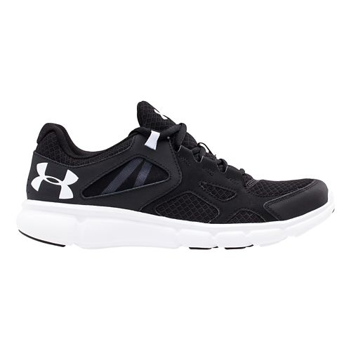Mens Under Armour Thrill Running Shoe - Black/White 10.5