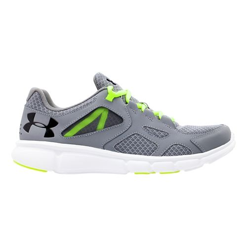 Mens Under Armour Thrill Running Shoe - Steel/Black 9.5