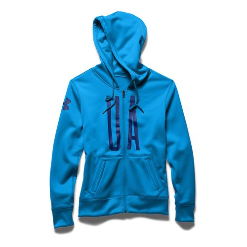 Womens Under Armour Storm Armour Fleece Full-Zip Graphic Warm Up Hooded Jackets - Jazz ...
