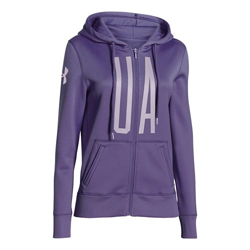 Womens Under Armour Storm Armour Fleece Full-Zip Graphic Warm Up Hooded Jackets - ...