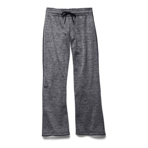 Womens Under Armour Lightweight Armour Fleece Twist Full Length Pants - Black/Black S