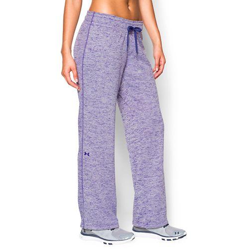 Womens Under Armour Lightweight Armour Fleece Twist Full Length Pants - Europa Purple XL