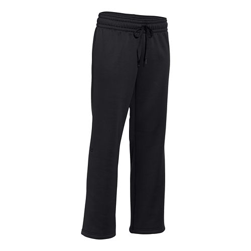 Womens Under Armour Storm Armour Fleece Pant Short 30 Inch Full Length Pants - Black/Black ...