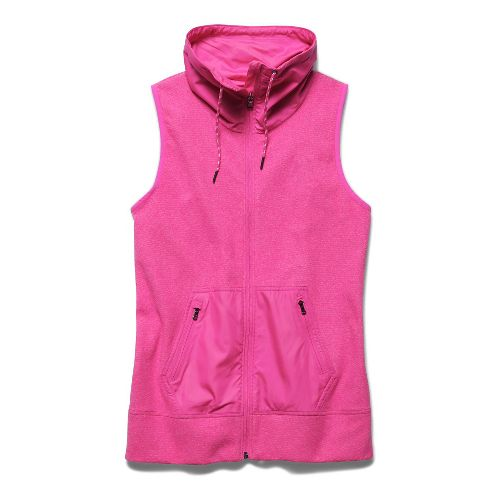 Womens Under Armour Survivor Hybrid Full-Zip Outerwear Vests - Rebel Pink L
