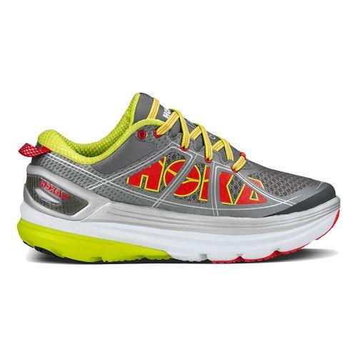Womens Hoka One One Constant 2 Running Shoe - Grey/Yellow 7.5