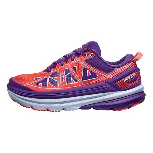 Womens Hoka One One Constant 2 Running Shoe - Coral/Purple 8.5