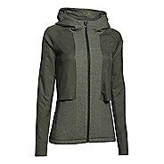 Womens Under Armour Survivor Hybrid Full-Zip Warm Up Hooded Jackets
