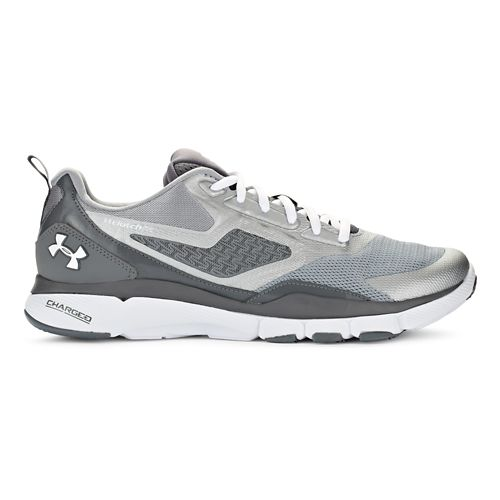 Mens Under Armour Charged One Cross Training Shoe - Steel/White 10.5