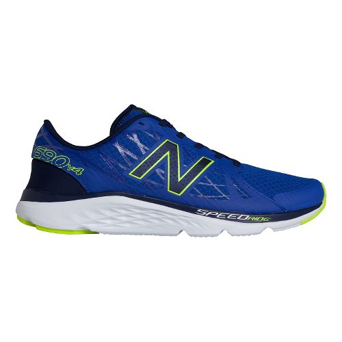 Mens New Balance 690v4 Running Shoe - Ocean Blue/Hi-Lite 7.5