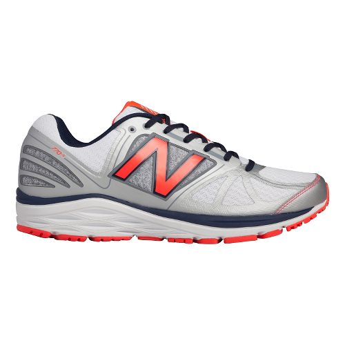 Mens New Balance 770v5 Running Shoe - Silver/Orange 10.5