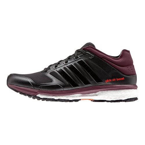 Womens adidas Supernova Glide 7 ATR Running Shoe - Black/Maroon 11.5