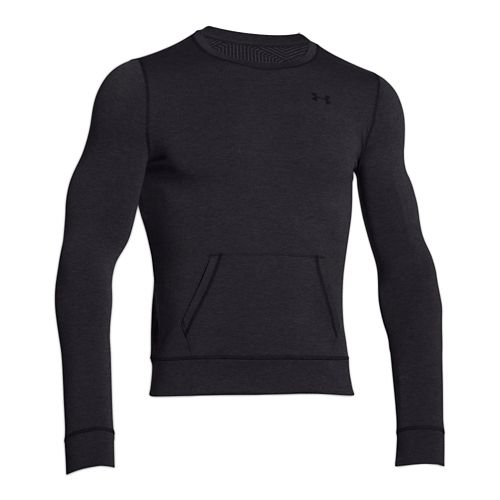 Womens Under Armour ColdGear Infrared Cozy Crew Long Sleeve No Zip Technical Tops - Black ...