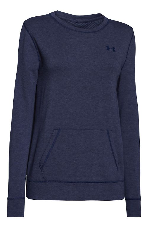 Womens Under Armour ColdGear Infrared Cozy Crew Long Sleeve No Zip Technical Tops - Blue Knight M