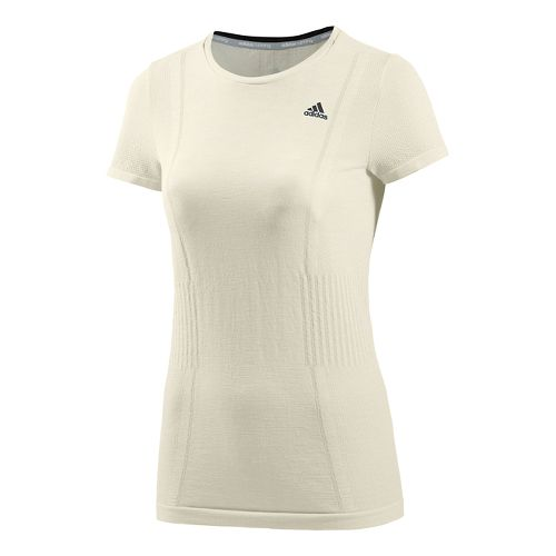Womens adidas Adistar Primeknit Short Sleeve Technical Tops - Non-Dyed White S