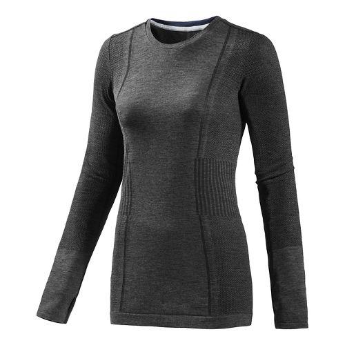 Womens adidas Adistar Primeknit Long Sleeve No Zip Technical Tops - Black M