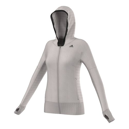 Womens Adidas City Energy Hoodie Outerwear Jackets - Pearl Grey XS