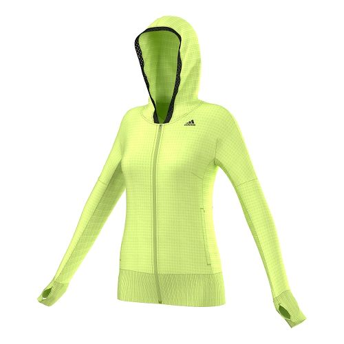 Womens Adidas City Energy Hoodie Outerwear Jackets - Frozen Yellow XS