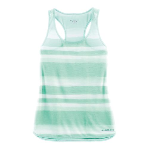 Womens Brooks Ghost Racerback Sleeveless & Tank Technical Tops - Surf Scape L