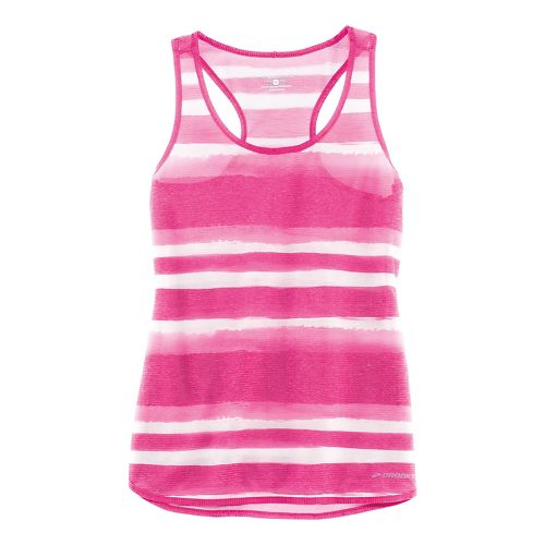Womens Brooks Ghost Racerback Sleeveless & Tank Technical Tops - Bloom Scape M