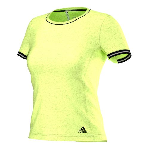 Womens adidas Clima Chill Tee Short Sleeve Technical Tops - Flash Red/Black S